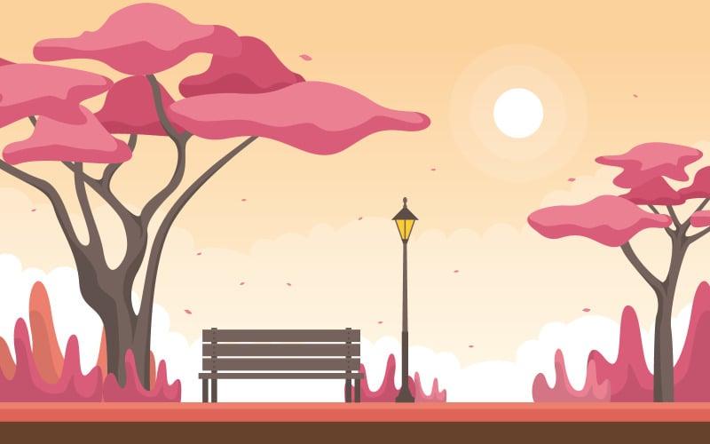 Осень Весна Япония - Иллюстрация