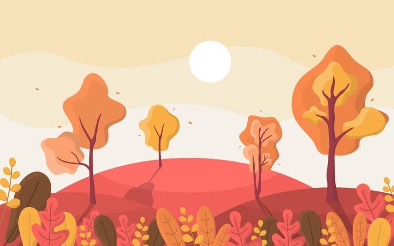 Осенний сезон осени - Иллюстрация