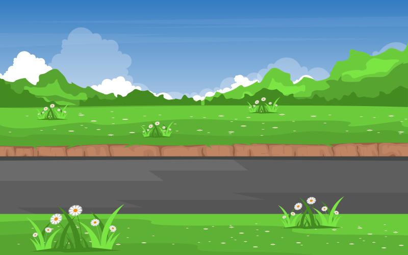 Природа свежие поля - Иллюстрация