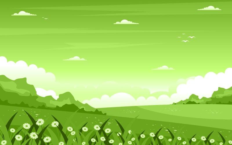 Природа свежий зеленый - Иллюстрация