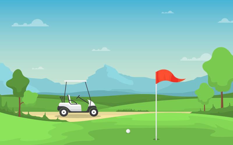 Спорткар для гольфа - Иллюстрация