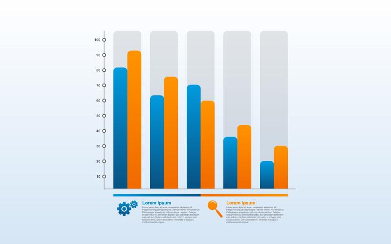 Economic Decreasing Graph Infographic Elements
