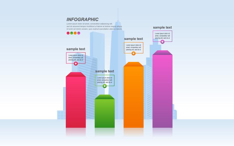 Экономические восстановленные элементы инфографики графа