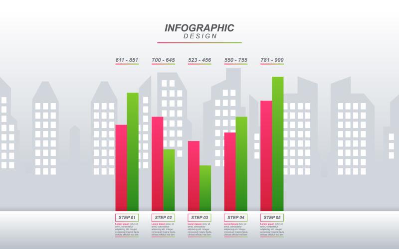 Элементы инфографики экономической статистической диаграммы