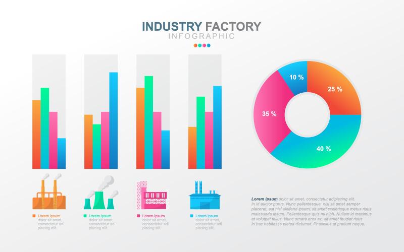 Элементы инфографики финансовых данных бизнеса
