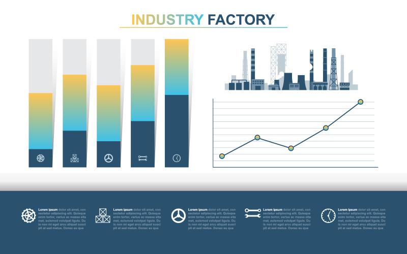 Элементы инфографики финансовых данных завода