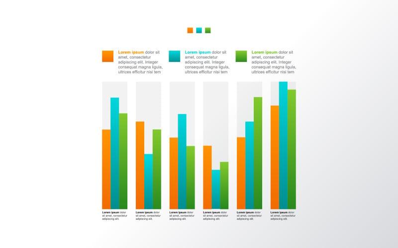 Элементы инфографики после кризиса экономического графика