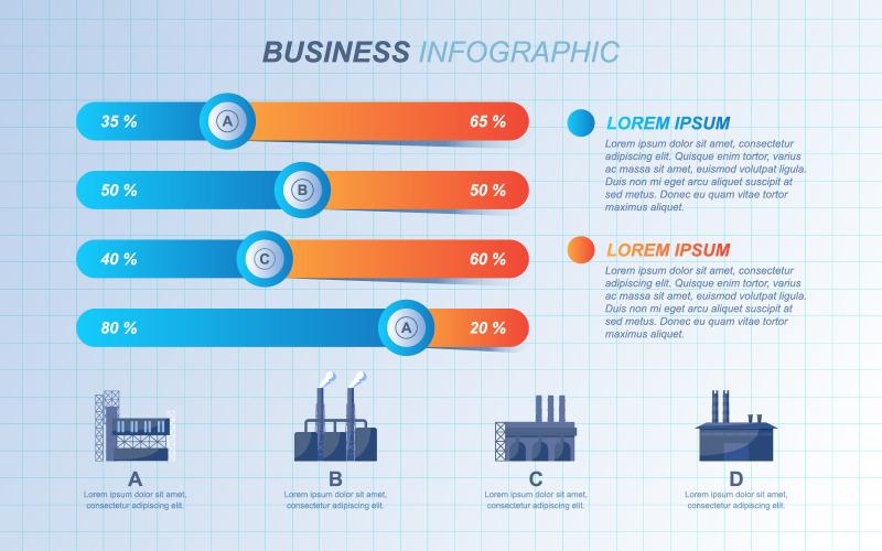 Элементы инфографики шаблона диаграммы презентации