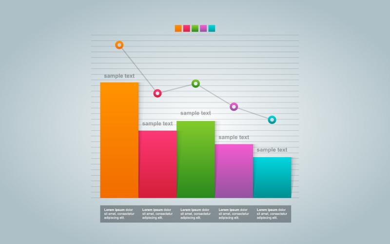 Элементы инфографики статистики Preasure