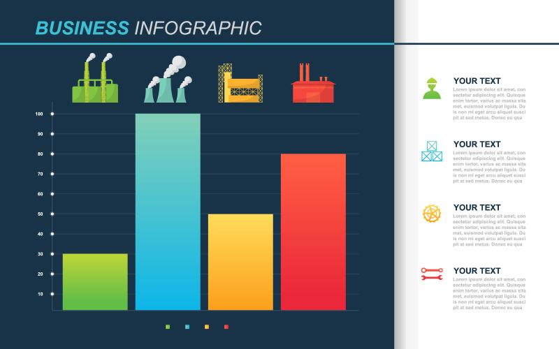Фабрика диаграмма финансовые инфографические элементы
