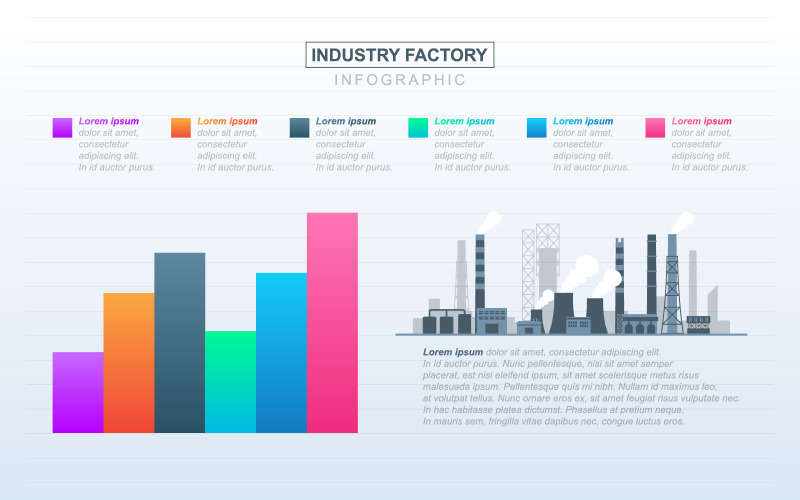 Factory Industrial Financial Infographic Elements