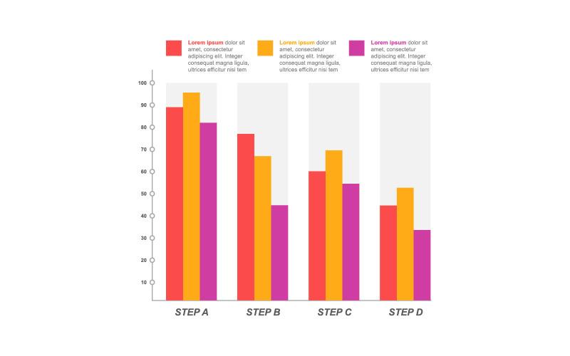 Финансовая диаграмма статистические инфографические элементы