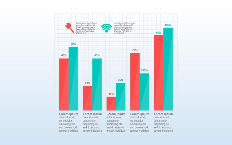 Графические улучшенные элементы инфографики данных