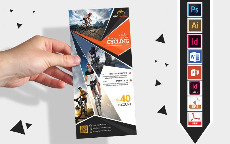 Карточка стойки | Cycle Shop DL Flyer Vol-03 - Шаблон фирменного стиля