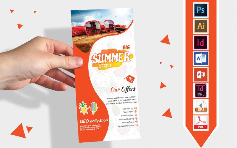 Карточка стойки   Летняя распродажа DL Flyer Vol-03 - Шаблон фирменного стиля