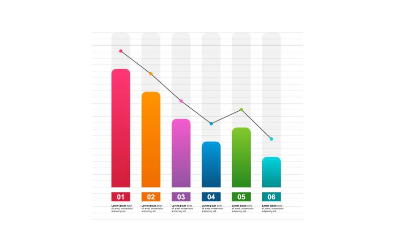 Уменьшение элементов инфографики экономического графика