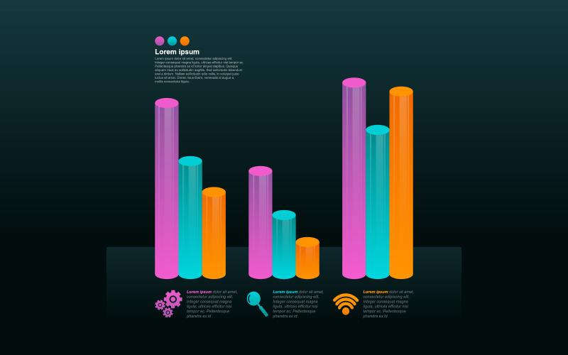 Восстановленные элементы инфографики гистограммы