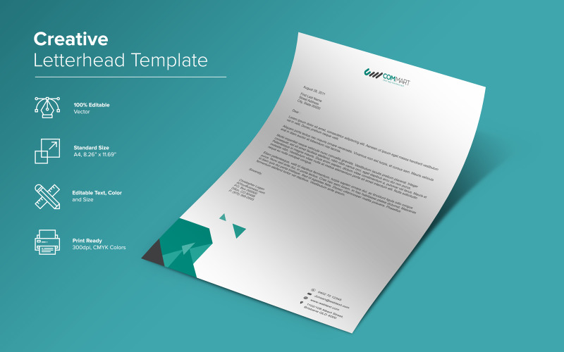 Элегантный дизайн фирменного бланка - шаблон фирменного стиля