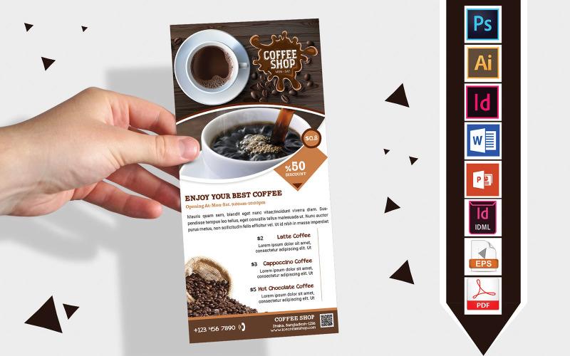 Карточка стойки   Coffee Shop DL Flyer Vol-01 - Шаблон фирменного стиля