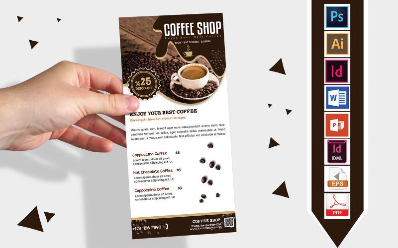 Карточка стойки   Coffee Shop DL Flyer Vol-03 - Шаблон фирменного стиля
