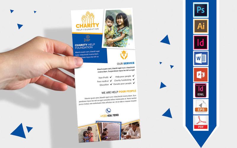 Карточка стойки | Флаер DL Vol-02 для благотворительных пожертвований - Шаблон фирменного стиля
