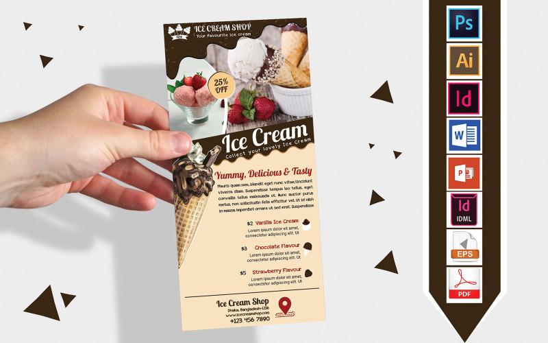 Карточка стойки | Ice Cream Shop DL Flyer Vol-03 - Шаблон фирменного стиля