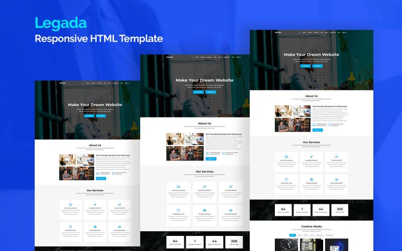 Legada - адаптивный шаблон целевой страницы