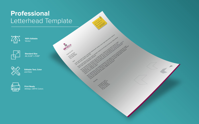 Профессиональный дизайн фирменного бланка - шаблон фирменного стиля