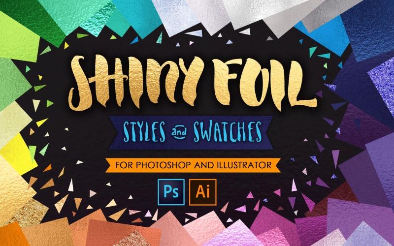 Shiny Glitter Foils для PS + Ai UPDATE - шаблон фирменного стиля