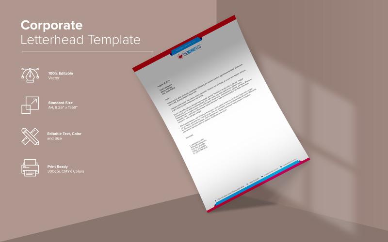 Современный дизайн фирменного бланка - шаблон фирменного стиля
