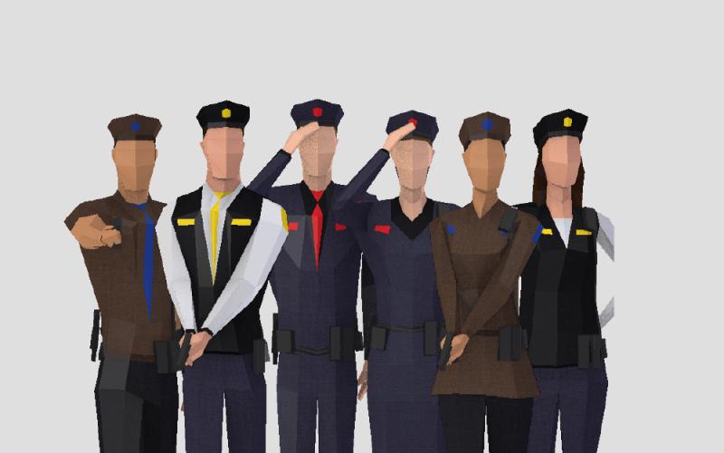 Police people 3D Модель