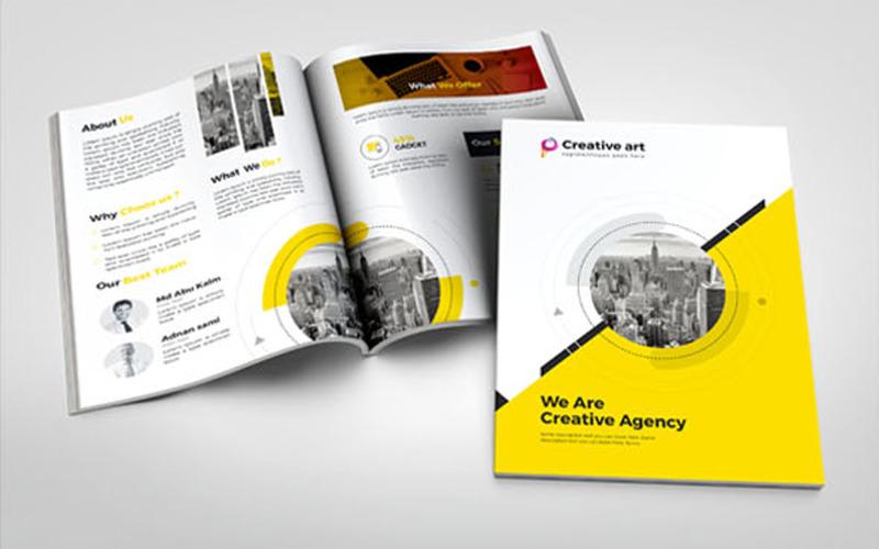Брошюра Creative Art Bi-Fold - Шаблон фирменного стиля