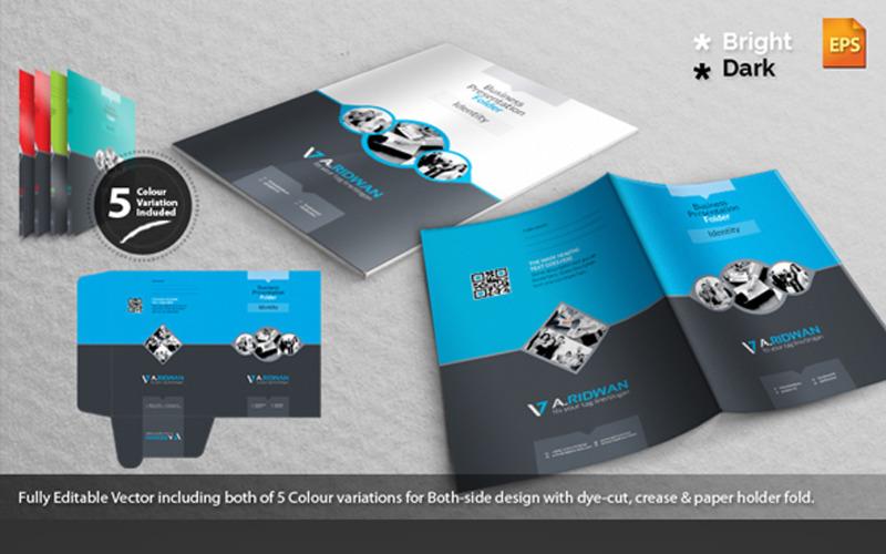 Папка для презентации Creative A-Ridwan 2 - Шаблон фирменного стиля