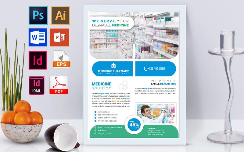 Плакат   Аптека Vol-03 - Шаблон фирменного стиля