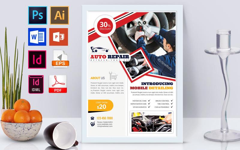 Плакат   Car & Auto Repair Vol-01 - Шаблон фирменного стиля