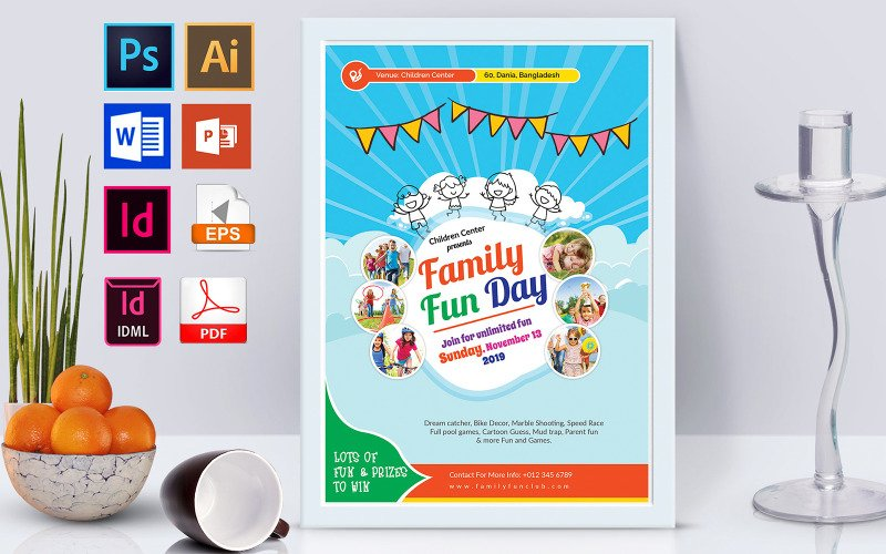 Плакат | Family Fun Day Vol-01 - Шаблон фирменного стиля