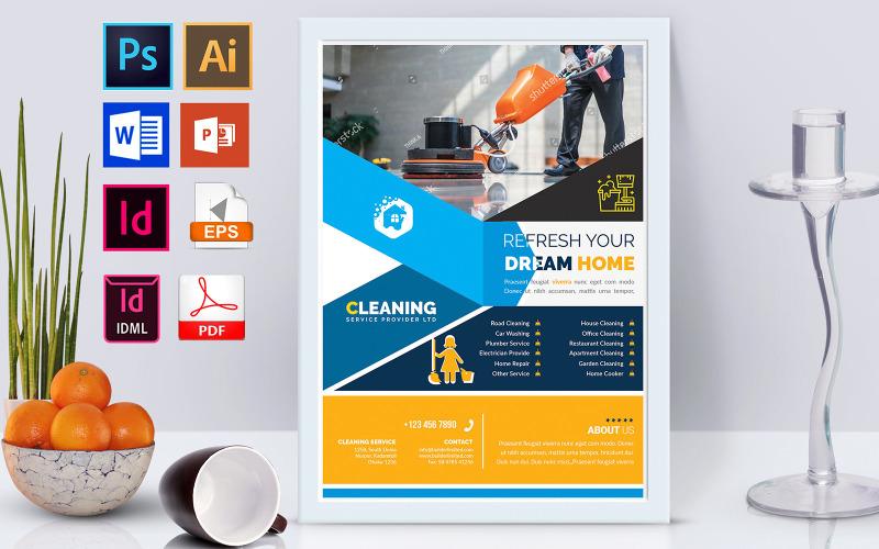 Плакат   Клининговые услуги Vol-02 - Шаблон фирменного стиля