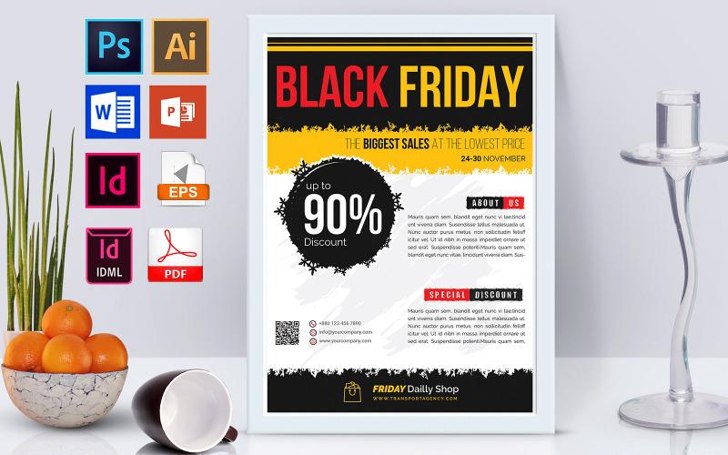 Плакат   Распродажа Черной Пятницы Том 03 - Шаблон фирменного стиля