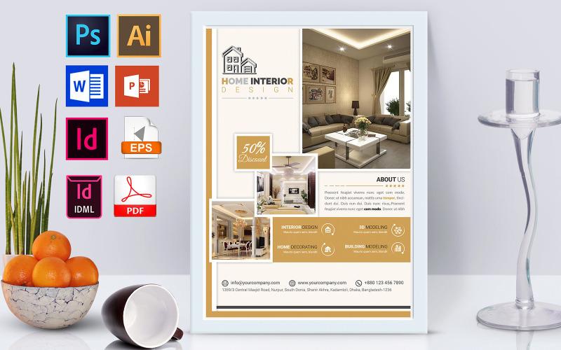 Плакат   Услуги дизайна интерьера Vol-02 - Шаблон фирменного стиля