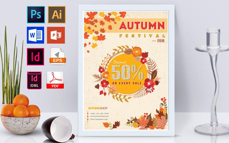 Плакат   Осенняя распродажа Vol-01 - Шаблон фирменного стиля