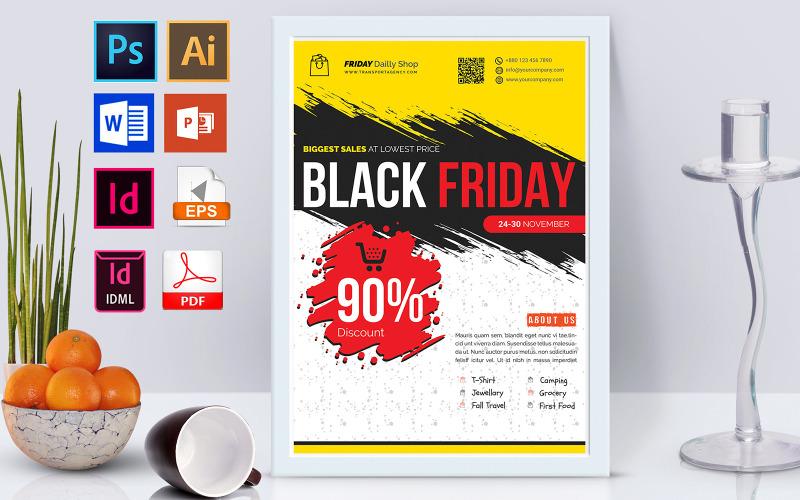 Плакат   Распродажа Черной пятницы, том 02 - Шаблон фирменного стиля