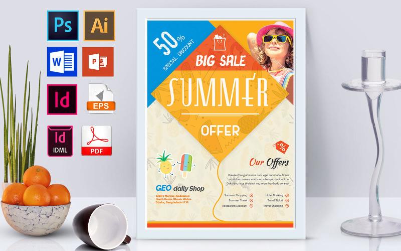 Плакат | Summer Sale Vol-02 - Шаблон фирменного стиля