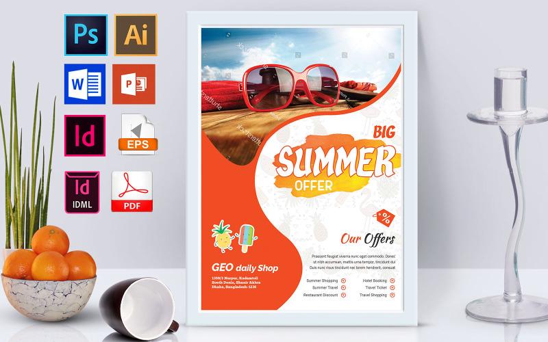 Плакат | Summer Sale Vol-03 - Шаблон фирменного стиля