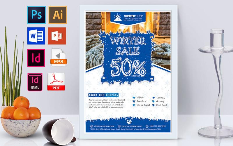 Плакат | Winter Sale Vol-02 - Шаблон фирменного стиля