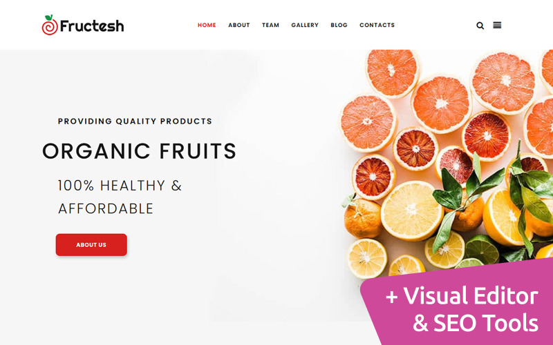 Fructesh - Organic Fruits Moto CMS 3 Vorlage