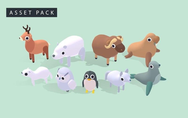 Arctic Animals - Quirky Series 3D Model