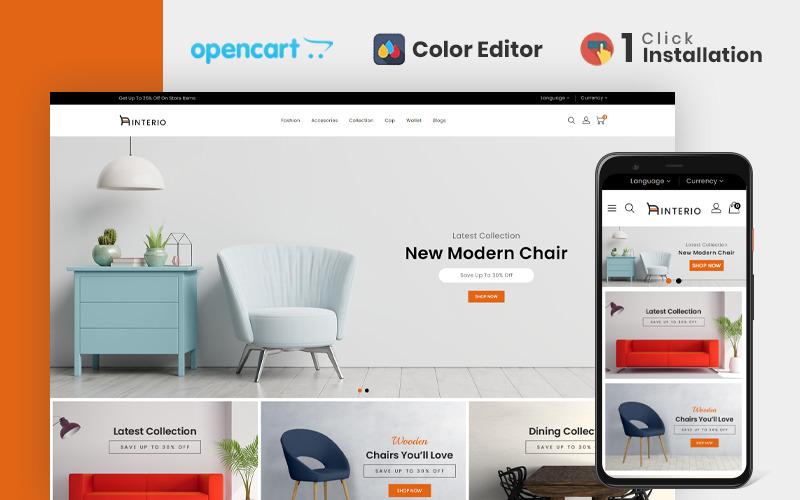 Interio Meubelwinkel OpenCart-sjabloon