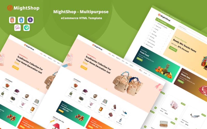MightShop - HTML-Website-Vorlage für E-Commerce