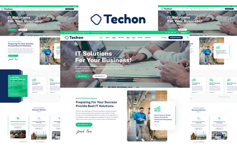 Techon - IT řešení a služby Šablona webových stránek HTML5