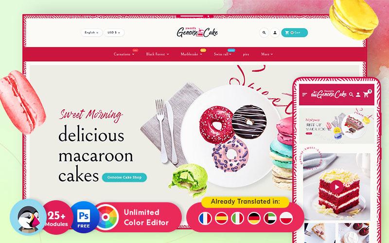 Genoise - Macaroon Cakes & Sweets - Víceúčelový responzivní PrestaShop motiv
